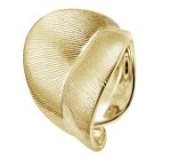 Xenox Silber Leaf Kollektion - Ring Silber vergoldet