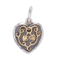 Waxing Poetic Ever Tied Heart Charm