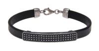 Platadepalo MAN Bracelet Leather - Silver