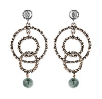 Platadepalo TREND Earrings - Silver, Bronze and Agate
