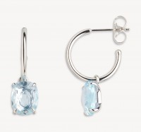 Xenox Fine Collection - Earring - 375 White Gold - blue topaz