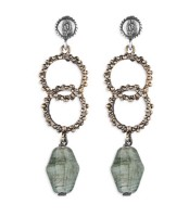 Platadepalo TREND Earrings - Silver, Bronze and Crystal