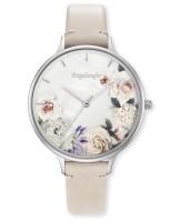 Engelsrufer Uhr Blume - Edelstahl Perlmutt - Lederarmband Beige