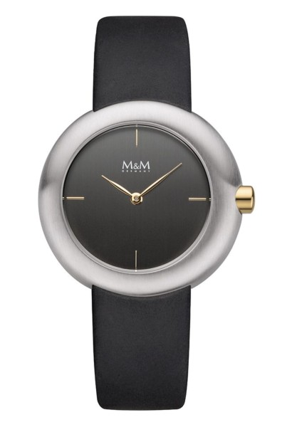 M&M Damen-Armbanduhr Big Crown bicolor anthrazit Analog Quarz