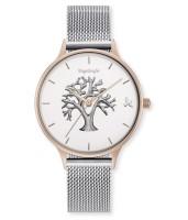 Engelsrufer Uhr Lebensbaum - Edelstahl Rosé - Mesh Armband
