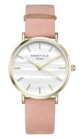 Rosefield The West Village Kollektion Uhr Nubukleder Perlweiß - Pink - Gold