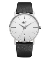 M&M Herren-Armbanduhr New Classic Analog Quarz