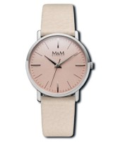 M&M Damen-Armbanduhr New Classic beige-rosé Analog Quarz