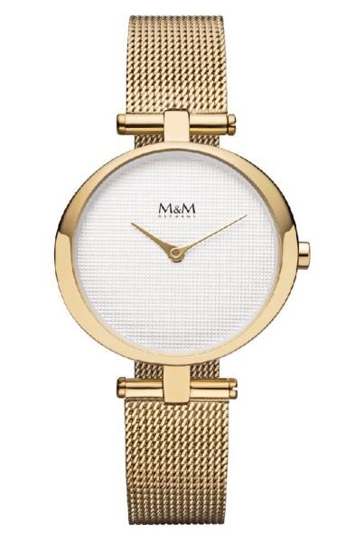 M&M Damen-Armbanduhr Ring O gold Analog Quarz