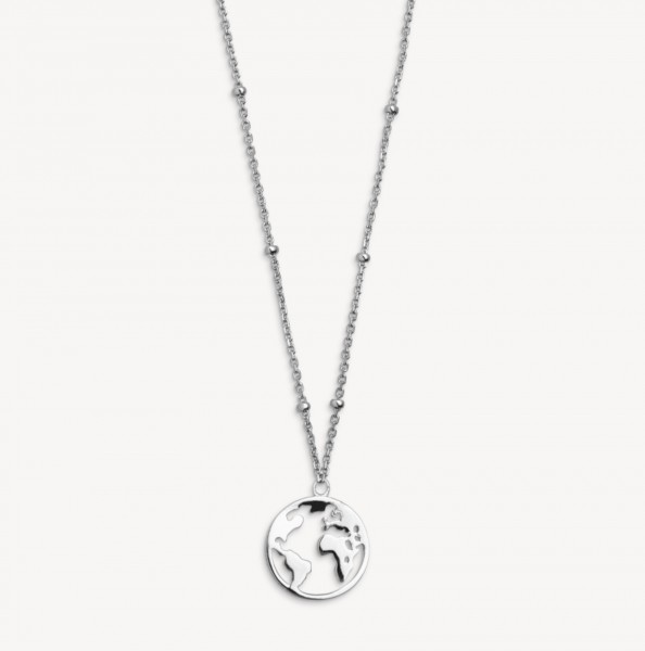 Xenox Silver Wanderlust - Necklace, Silver, Globe