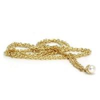 Trollbeads Fantasy Halskette mit Perle Gold