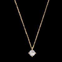 Xenox Fine Halskette Gelbgold mit weißem Topas