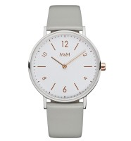 M&M Damen-Armbanduhr Basic 36 Analog Quarz