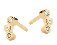 Spirit Icons - Bliss Studs - Yellow Gold - Zirconia