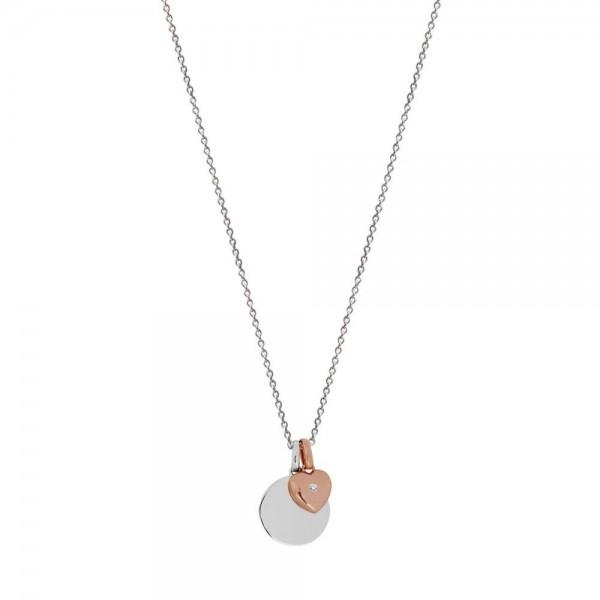 Xenox Rundes Medallion mit Rosé Herz - Gravierbar