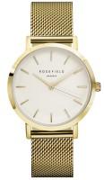 Rosefield The Mercer Kollektion Uhr Mesh Edelstahlarmband Weiß - Gold - Gold
