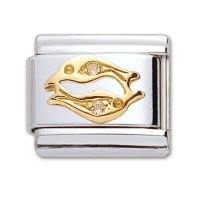 Original Firenze Gold Zirkonia Fische