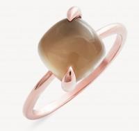 Xenox Fine Fashion Kollektion - Ring - 375er Roségold, grauer Mondstein