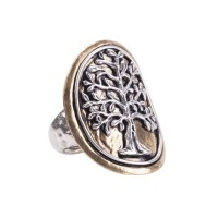 Waxing Poetic Tree of Life Medallion Ring